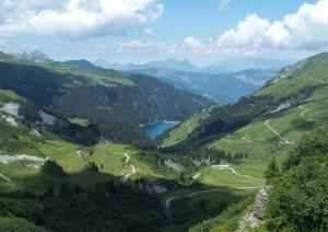 Lac de Saint Guérin en hauteur, Savoie