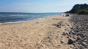 Plage de sable blanc du parc national de Stenshuvud, Suède