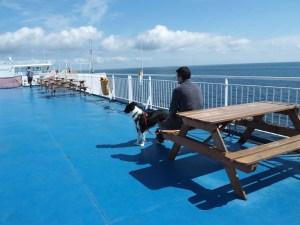 Pont extérieur du ferry pour la Suède