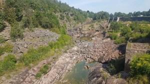 Canyon asséché de la cascade de Trollhätan, Suède