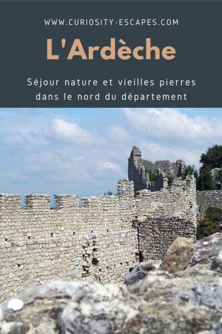 Séjour au nord de l'Ardèche: guide de visites.