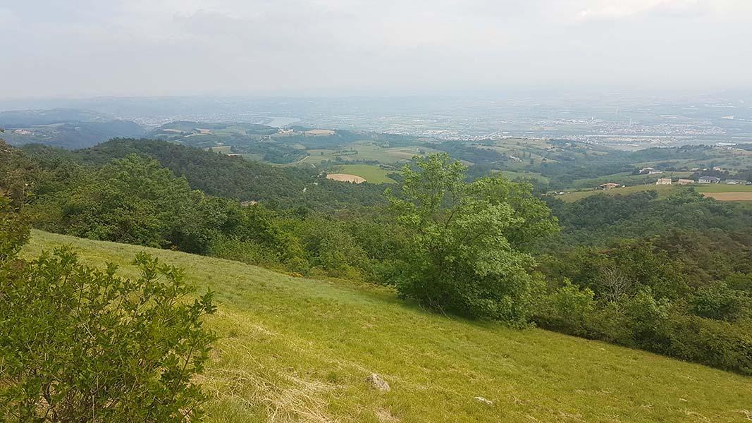 Panorama à 360° au pic de Saint Romain de Lerps, Ardèche