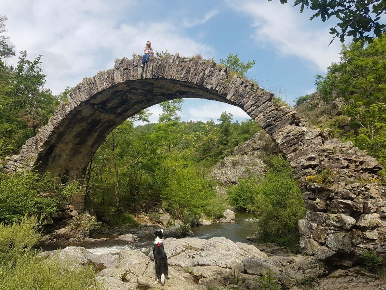 Pont romain de Saint Sylvestre dans le nord de l'Ardèche