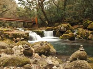 Les gorges de Kikuchi, sur Kyūshū au Japon