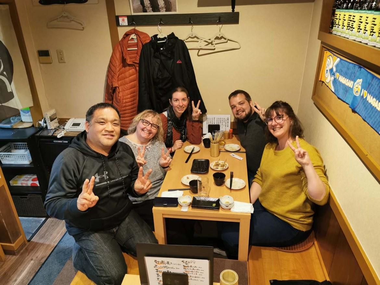 Rencontre dans un restaurant japonais