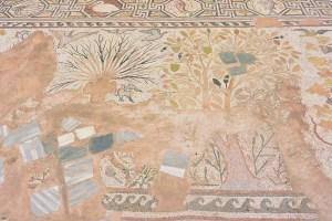 Mosaïque abîmée du site archéologique de Bitola