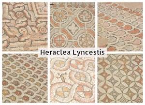Mosaïques aux motifs géométriques, Bitola