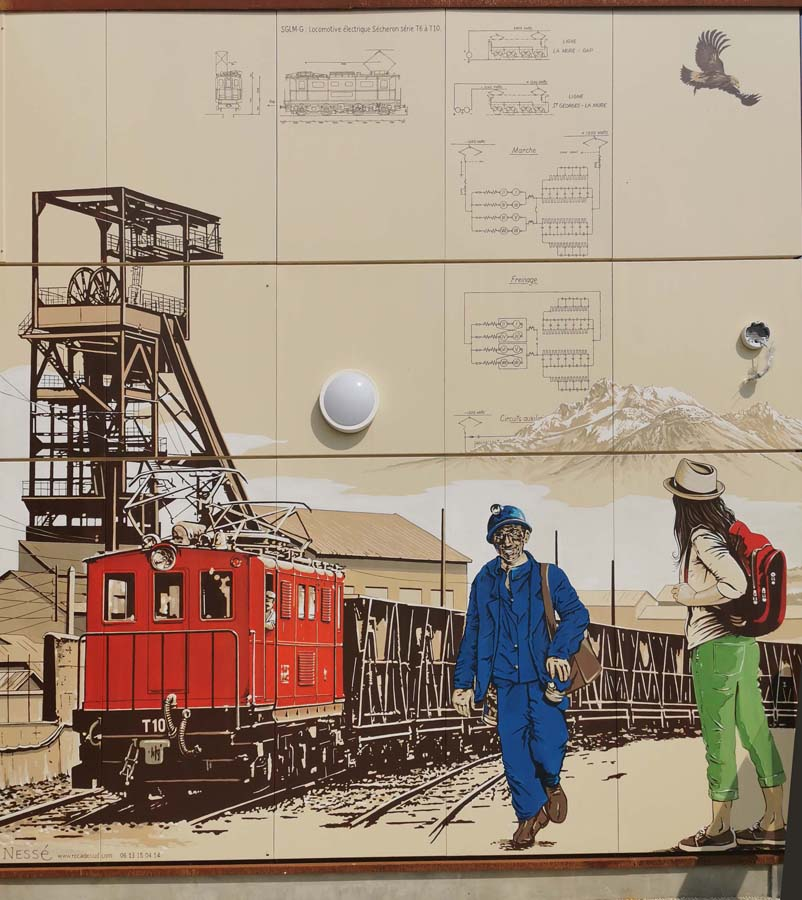 Fresque en Gare de La Mure, Isère