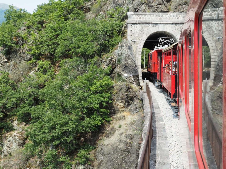 Tunnel et viaduc de Loulla, petit train de La Mure