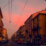 milan sunset