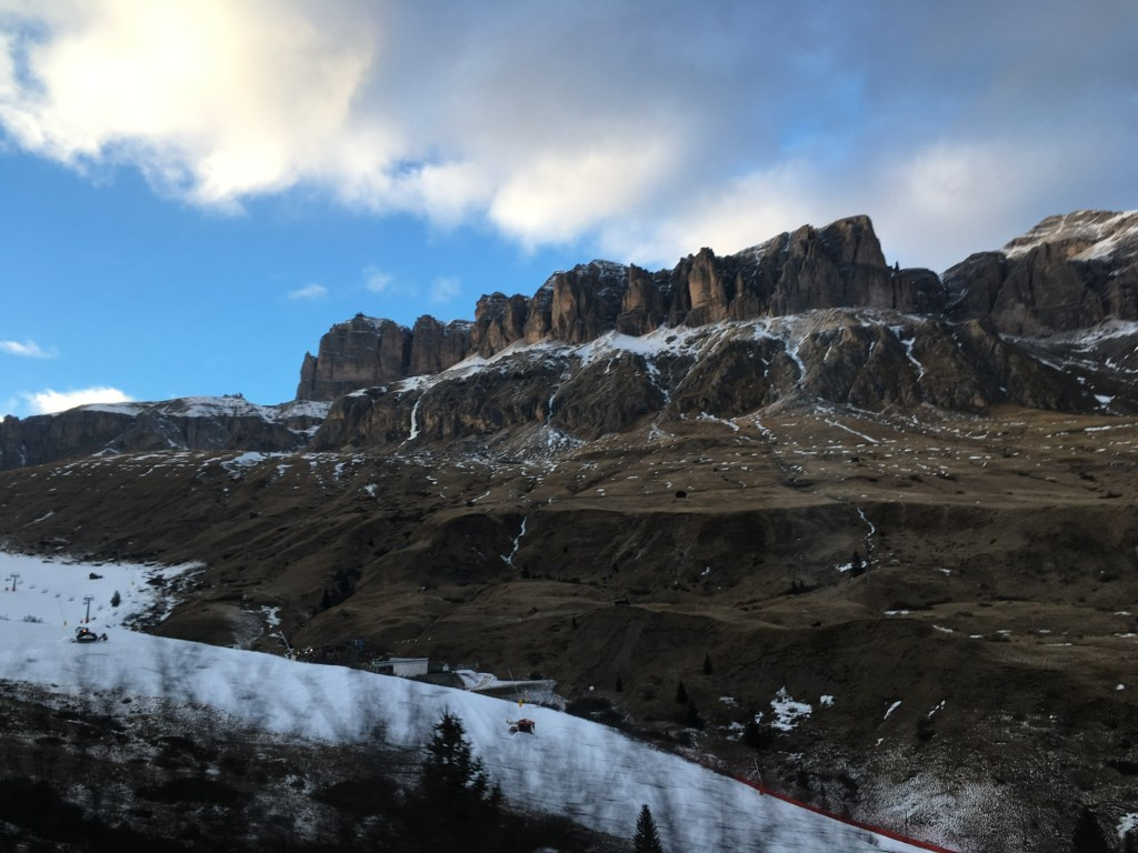 great dolomities road winter driving