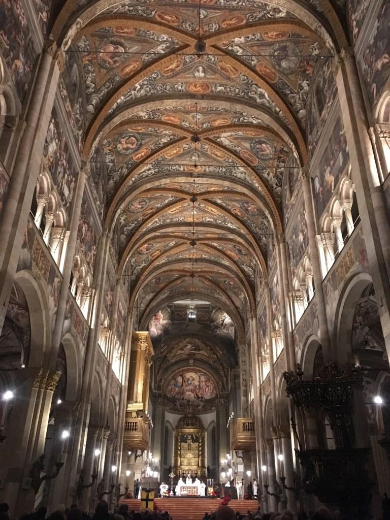 parma cathedral interior fresco