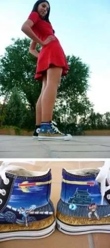 Chun-li vs Ryu Converse version