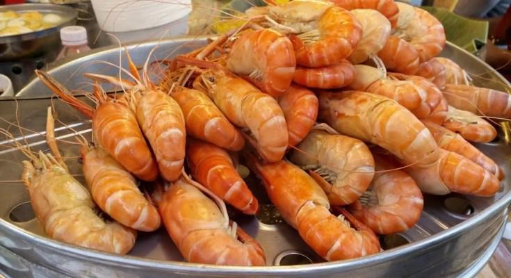 Mazzancolle al vapore con arancia e timo ricetta