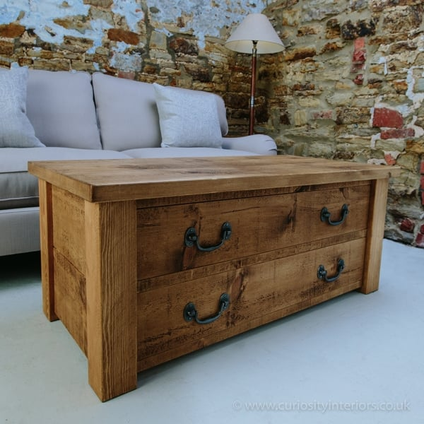 curiosity interiors haddon plank coffee table with drawers