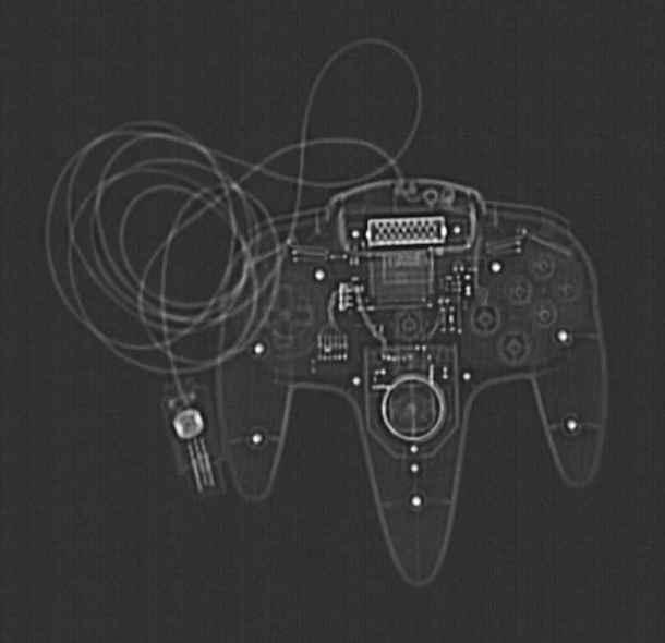 Controle de video game. Tomografia computadorizada