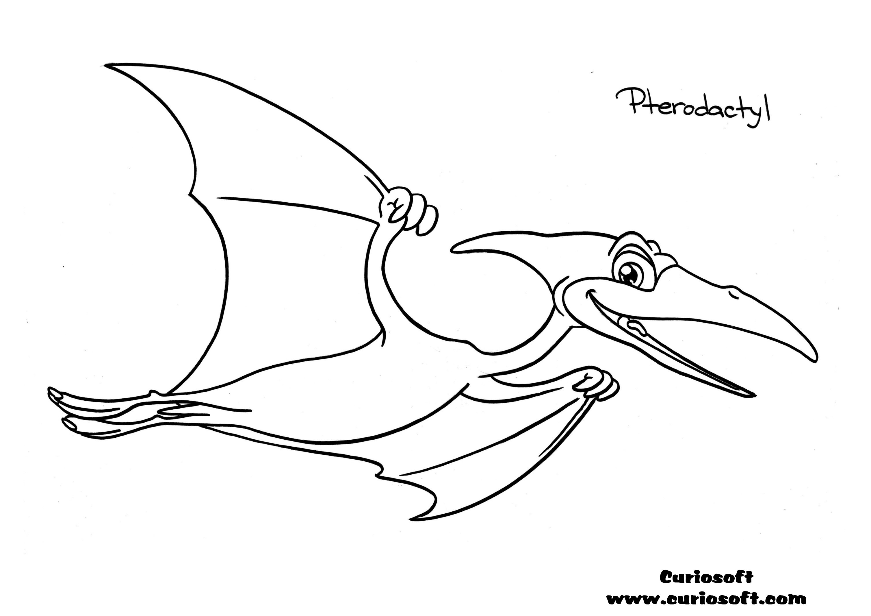 Pterodactyl Dinosaur Coloring Coloring Pages