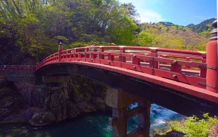 Sacred Shinkyo Bridge, Nikko, Japan