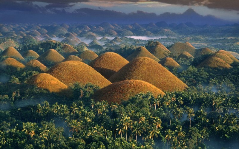 Curious Chocolate Hills in Bohol, Philippines
