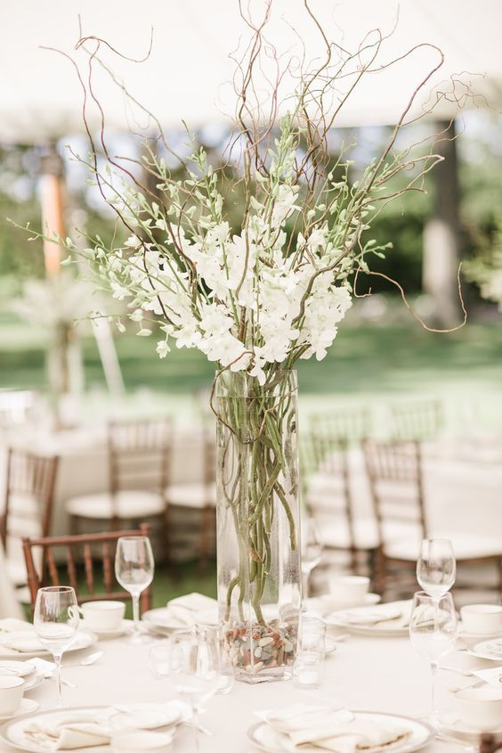 Curly Willow Branch Wedding Centerpiece Curious Country Creations Crafty Life