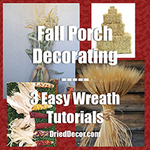 Easy Fall Porch Decorating and Wreath Tutorials