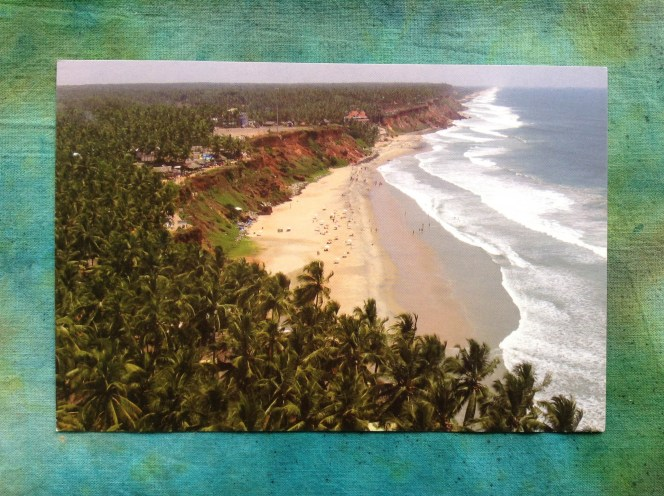 Postcard from Varkala. There are no shortage of coconuts here.