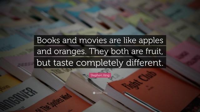Curiouskeeda - Books vs Movies - Quote
