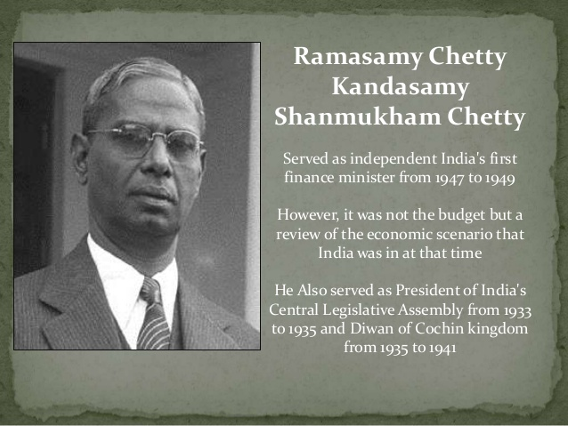 Ramasamy Chetty- free India budget