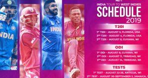 india vs west indies schedule