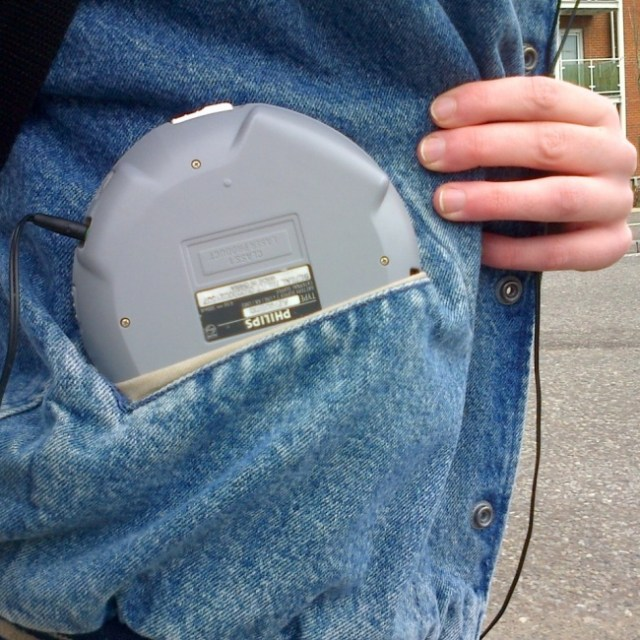 the old walkman in the 90's