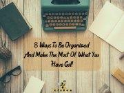 better organization tips