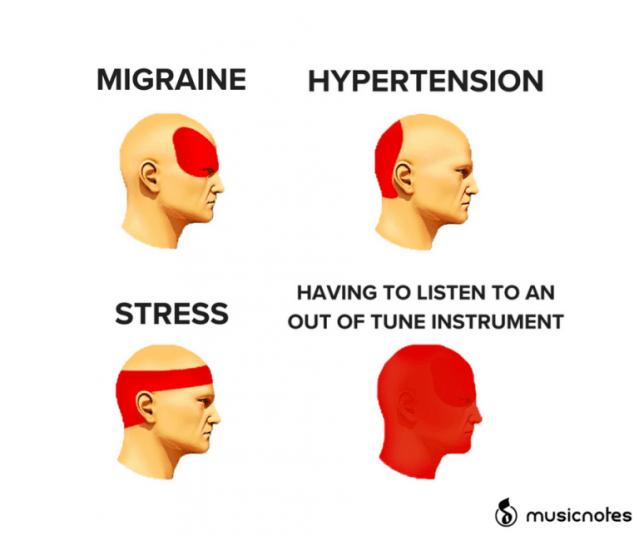 music headache meme
