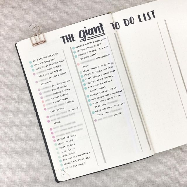 Organized to do list