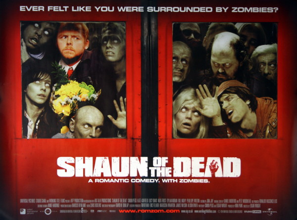 Shaun of the dead horror movie poster