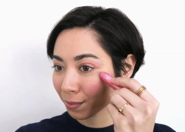 lipstick as highlighter
