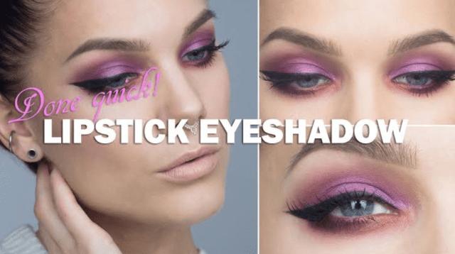 lipstick eyeshadow