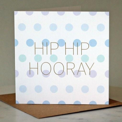 'Hip Hip Hooray' greeting card
