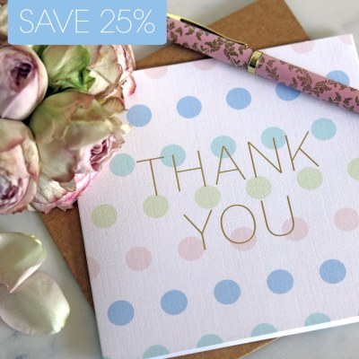 'Thank You' greeting card 10 pack