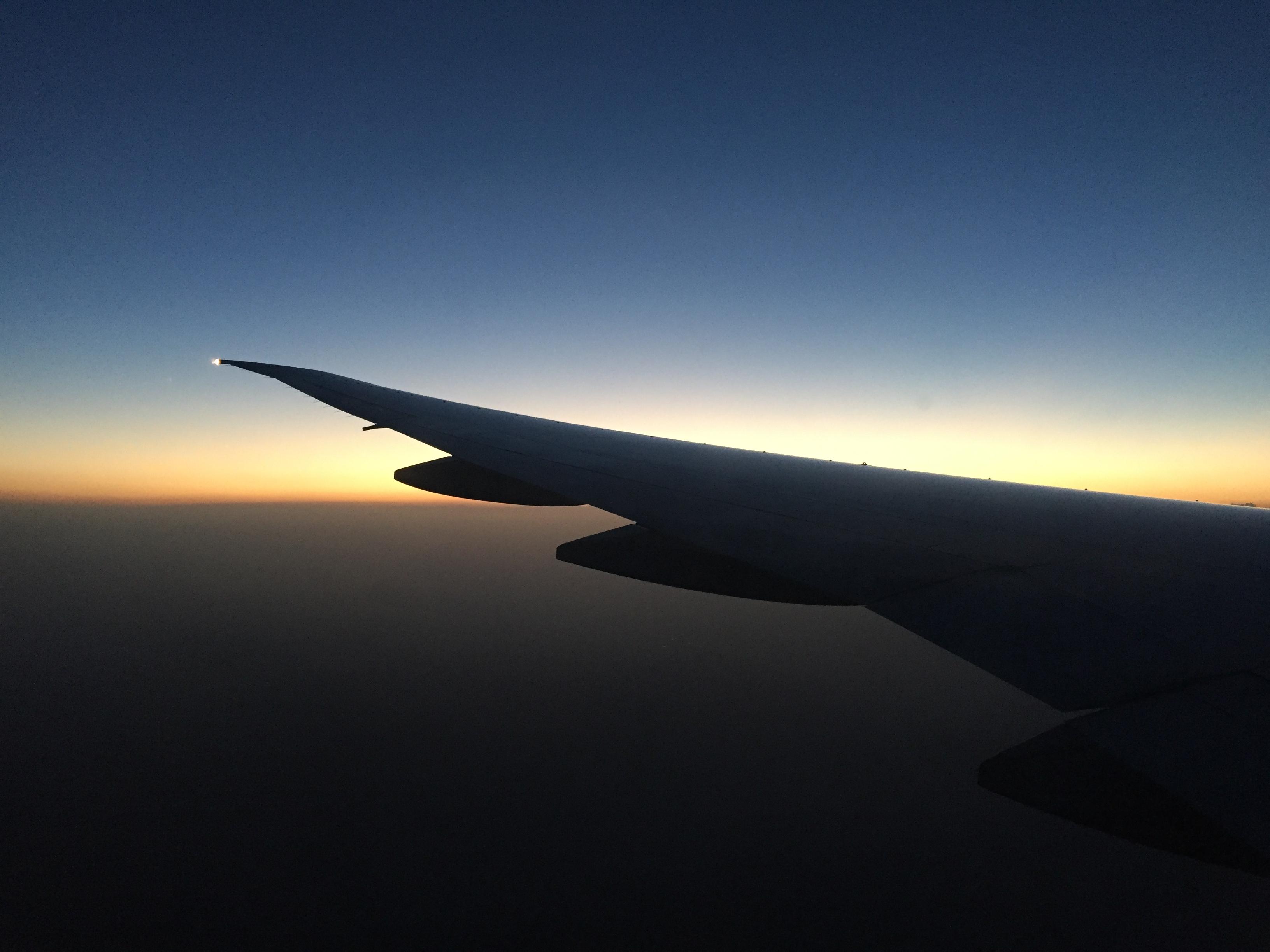 Plane descending into Beijing