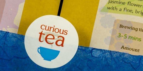 Curious tea label