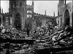 Koventrieren. El bombardeo de CoventryThe bombing of Coventry