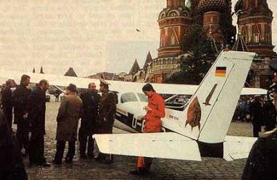 El chico que aterrizó en la plaza Roja de Moscú