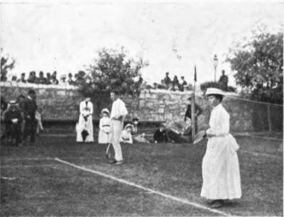 William Renshay en Winbledon en 1886