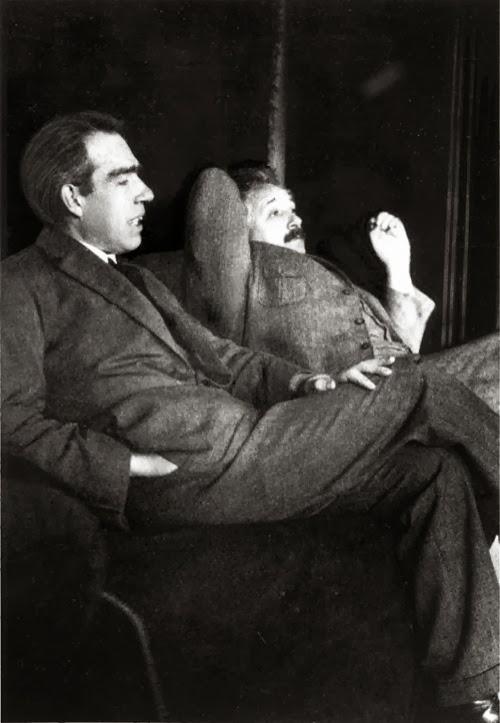 En 1925 con Niels Bohr