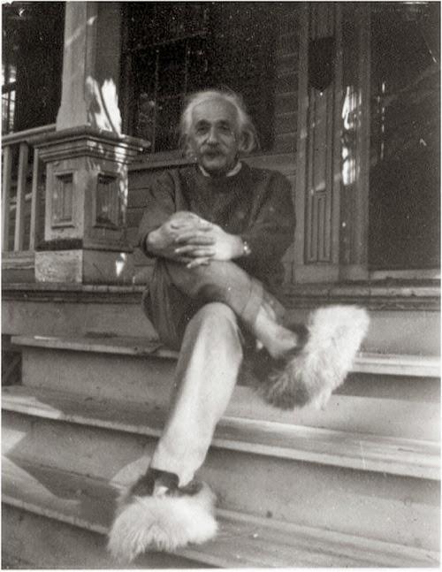 Con pantuflas en 1950
