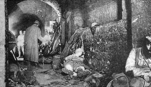 Interior del fuerte Vaux en 1916