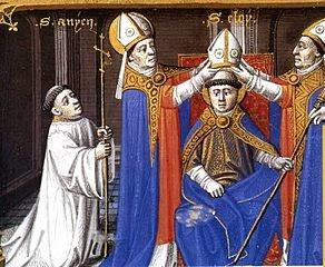 Coronación de San Eloy como obispo