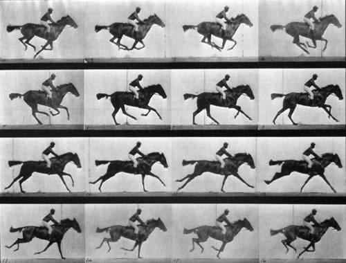 Serie del caballo al galope, hecha por Muybridge posteriormente