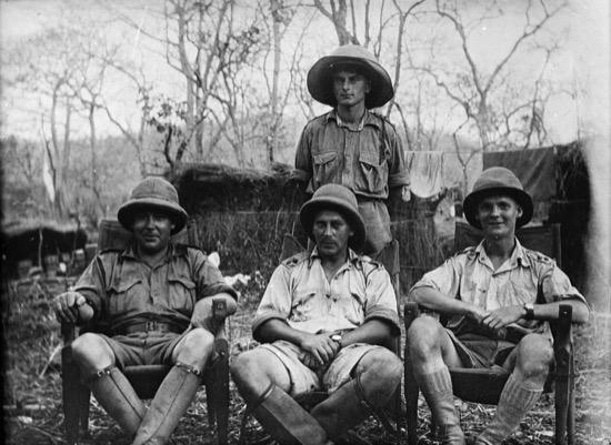 Oficiales médicos en África en la Primera Guerra Mundial