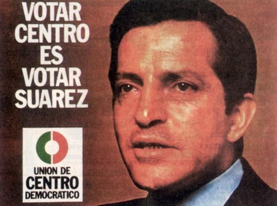 Cartel electoral de Suárez en 1977